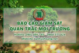 Báo cáo giám sát quan trắc môi trường