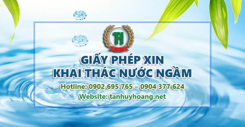 Lập giấy phép khai thác nước ngầm