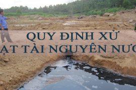 """Đơn vị không xử lý nước thải xử phạt """" 500 Triêu đồng """"- NĐ 36/2020"""