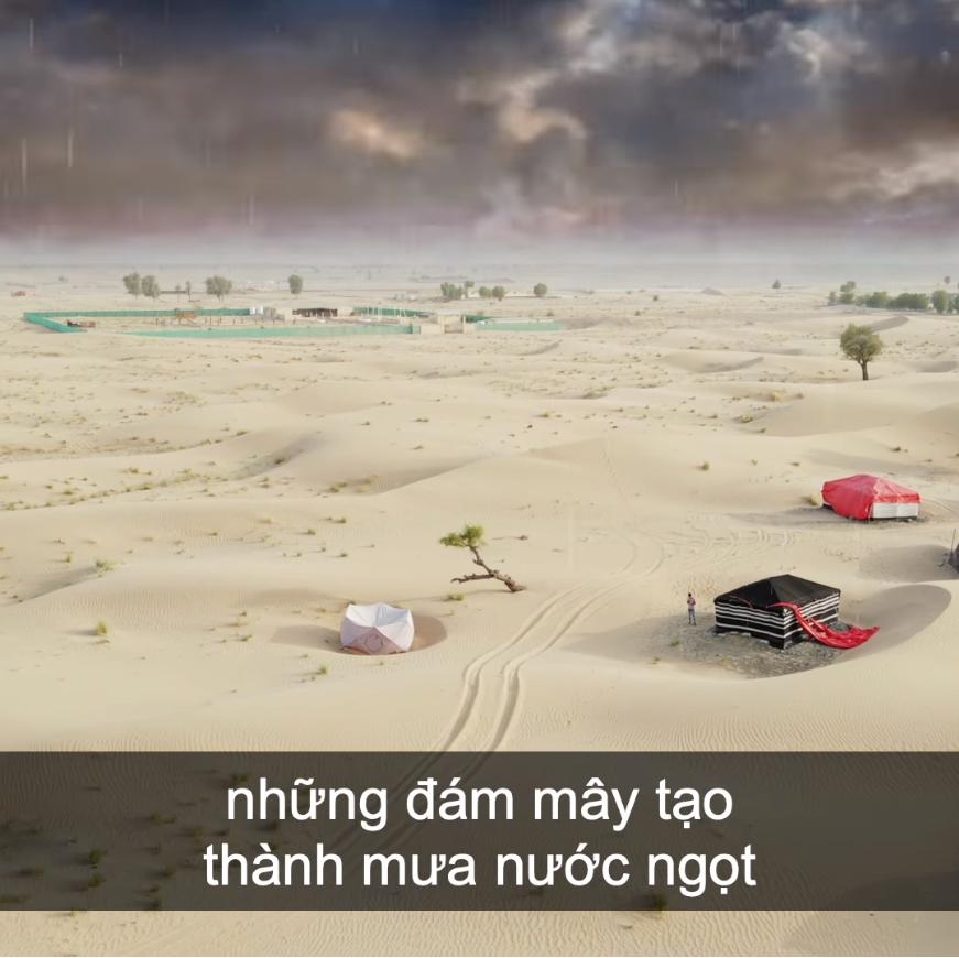 Làm mưa nhân tạo để sản xuất nước uống tại Dubai