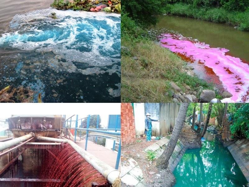 nước thải ngành dệt nhuộm